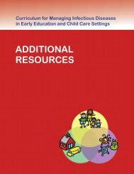 ADDITIONAL RESOURCES - Healthy Child Care America