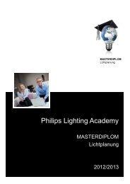 Anmeldung zum MASTERDIPLOM der Philips Lighting Academy