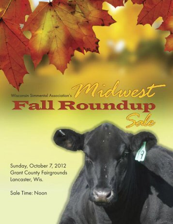 the Midwest Fall Roundup… - Iowa Simmental Association