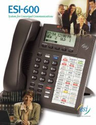 ESI-600 Brochure - Business Communication Systems of NC