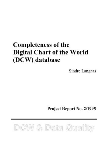 Completeness of the Digital Chart of the World (DCW ... - SpatialNews