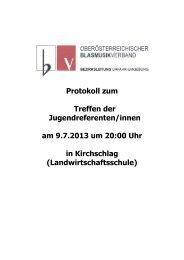 Protokoll zum Treffen der Jugendreferenten ... - Urfahr-Umgebung