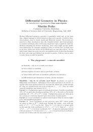 Differential Geometry in Physics Marián Fecko