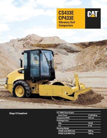 CS433E CP433E Vibratory Soil Compactors