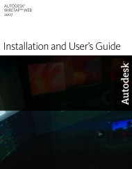 Autodesk Wiretap Web 2007 Installation and User's Guide