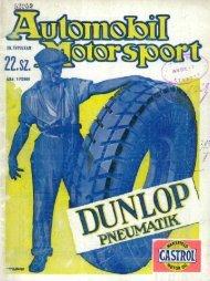 Automobil motorsport 1928 3. évfolyam 22. szám - EPA