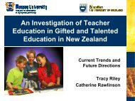 An Investigation of Teacher Education in Gifted and - Conferences ...