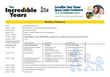 to view the draft programme (pdf).