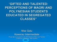 gifted and talented: perceptions of maori and polynesian students ...