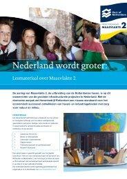 Nederland wordt groter: - Maasvlakte 2