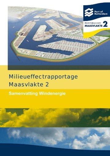 Samenvatting Windenergie - Maasvlakte 2