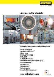 Katalog Advanced Materials - Nabertherm GmbH