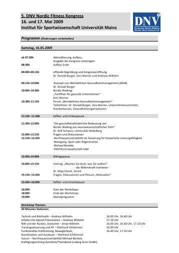 Kongress Programm - DNV
