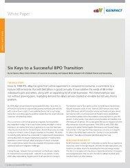 White Paper Six Keys to a Successful BPO Transition - ITOnews.eu