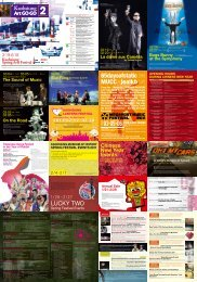 2011 Kaohsiung Spring Arts Festival Event Schedule - ENGLISH