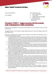 Circolare 11/2011 Circolare 11/2011 - Fondo Pegaso