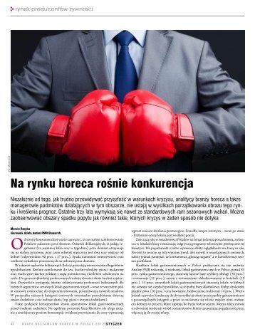 Na rynku horeca rośnie konkurencja - PMR Research