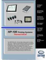HP-100 Printing Systems Thermal InkJet - Greydon, Inc.