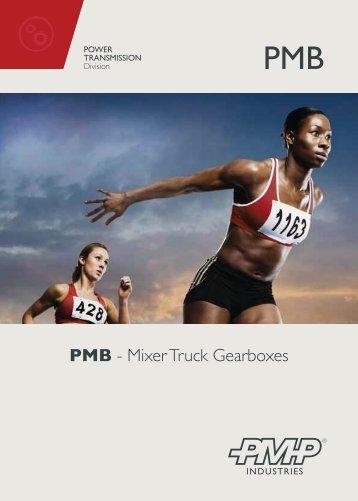 Link> PMB series, mixer truck gearboxes (Flyer) - Pmp Industries