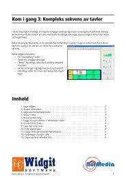 Kom i gang 3: Kompleks sekvens av tavler Innhold - NorMedia AS