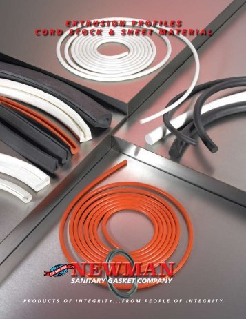 extrusion profiles cord stock & sheet material - Newman Sanitary ...
