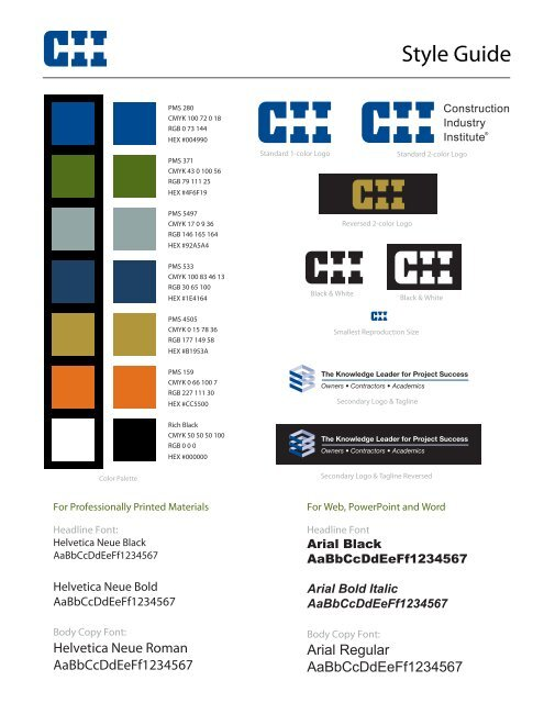 CII Style Guide - Construction Industry Institute