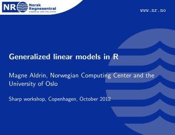Generalized linear models in R