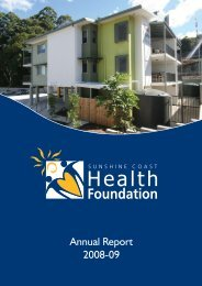 Research Committee Report - Sunshine Coast Health Foundation