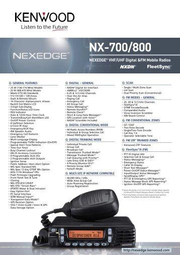 Kenwood Nx 700 manual
