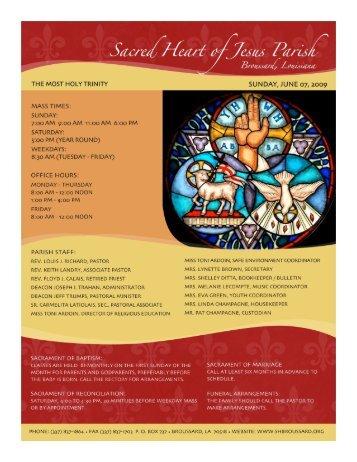 Building on our Faith Through Stewardship - Sacred Heart of Jesus