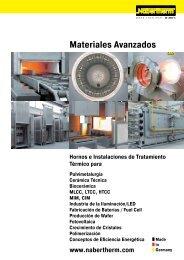 catalogue Materiales avanzados - Nabertherm