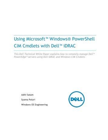 Using Microsoft Windows PowerShell Cim ... - Dell Community