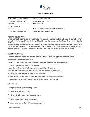 Nursing - PCT job description 11-11 - Black River Memorial Hospital
