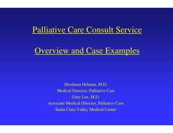 Palliative Care Consult Service Overview and Case Examples