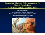 Supporting Diabetes Self-M anagem ent for Diverse Populations: A ...