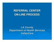 LA County Online Referral Process Presentation - Safety Net Institute