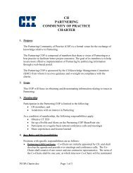 cii partnering community of practice charter - Construction Industry ...