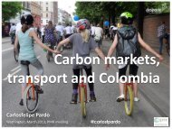 Colombia Experience with Crediting Mechanisms in Transport
