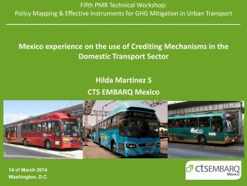 Mexico Experience with Crediting Mechanisms in Transport