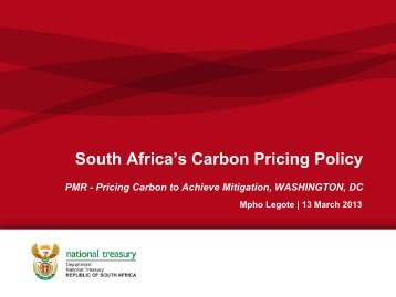 Carbon Pricing Policy
