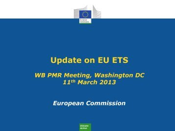 Update on EU ETS
