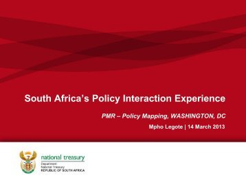 South Africa's Policy Interaction Experience