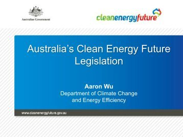 Australia's Clean Energy Future Legislation