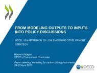 OECD modeling and contributions to policy discussions