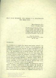 Fray Juan Ramírez, los indios y la Guatemala del siglo xvii - UNAM