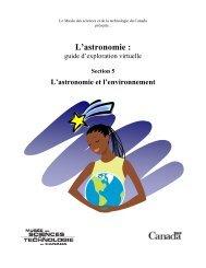 L'astronomie et l'environnement - Musée des sciences et de la ...