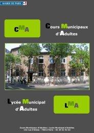 Cours Municipaux d'Adultes - Lyceedadultes.fr