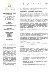 Quarterly Activities Report – September 2012 - Sovereign Gold ...