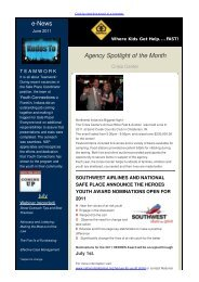 e-News June 2011, Summer Edition - National Safe Place