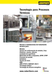 catalogue Tecnología para Procesos Térmicos - Nabertherm